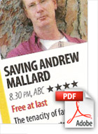 Download Saving Andrew Mallard TV Highlight Rating (Src Who Magazine) - Michael Muntz, Corporate, Films, Videos, Training, Promotional, Commercials, Budget, Perth, Western Australia