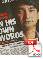 Download The Lloyd Rayney Story News Article (Src The West Australian) - Michael Muntz, Corporate, Films, Videos, Training, Promotional, Commercials, Budget, Perth, Western Australia